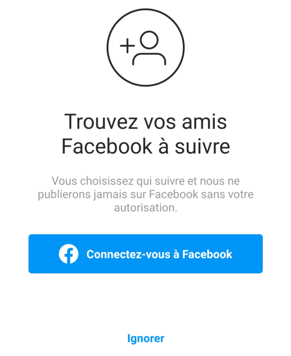 Trouver des contacts Facebook sur Instagram